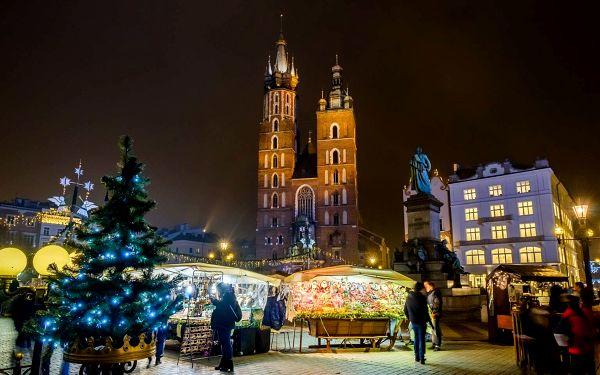 Vánoční trhy v Krakově.